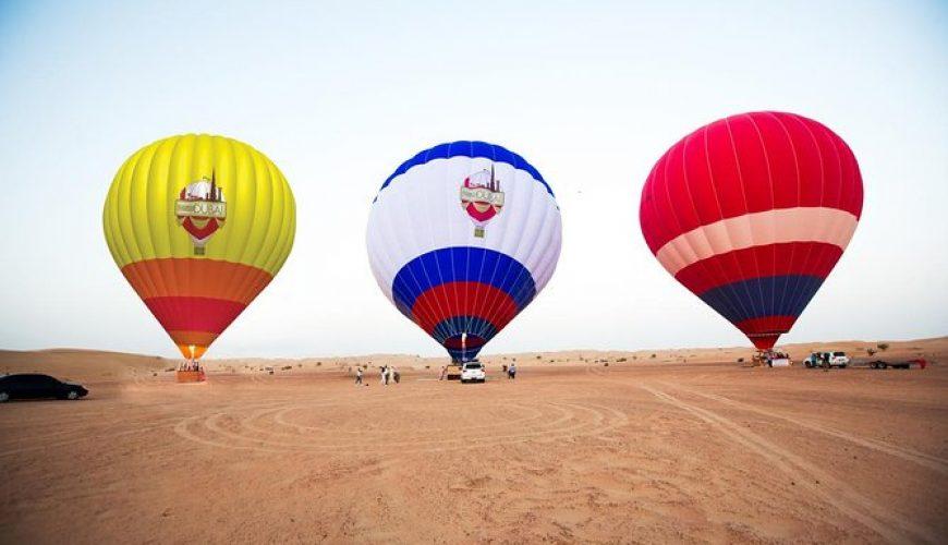 Dubai hot air budget balloon